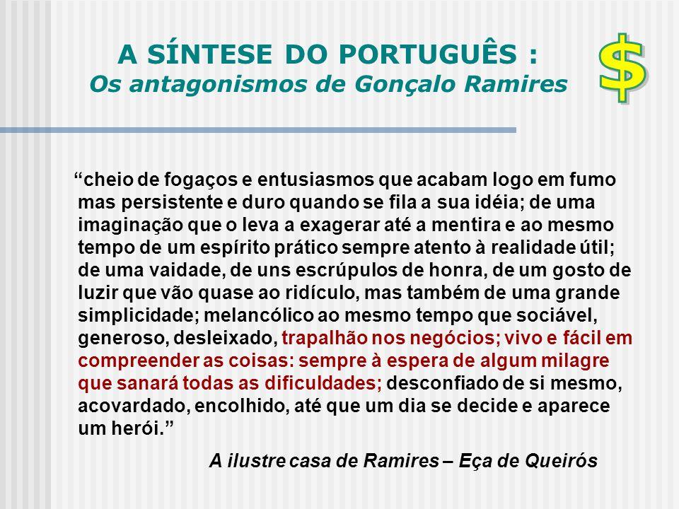 A SÍNTESE DO PORTUGUÊS : Os antagonismos de Gonçalo Ramires