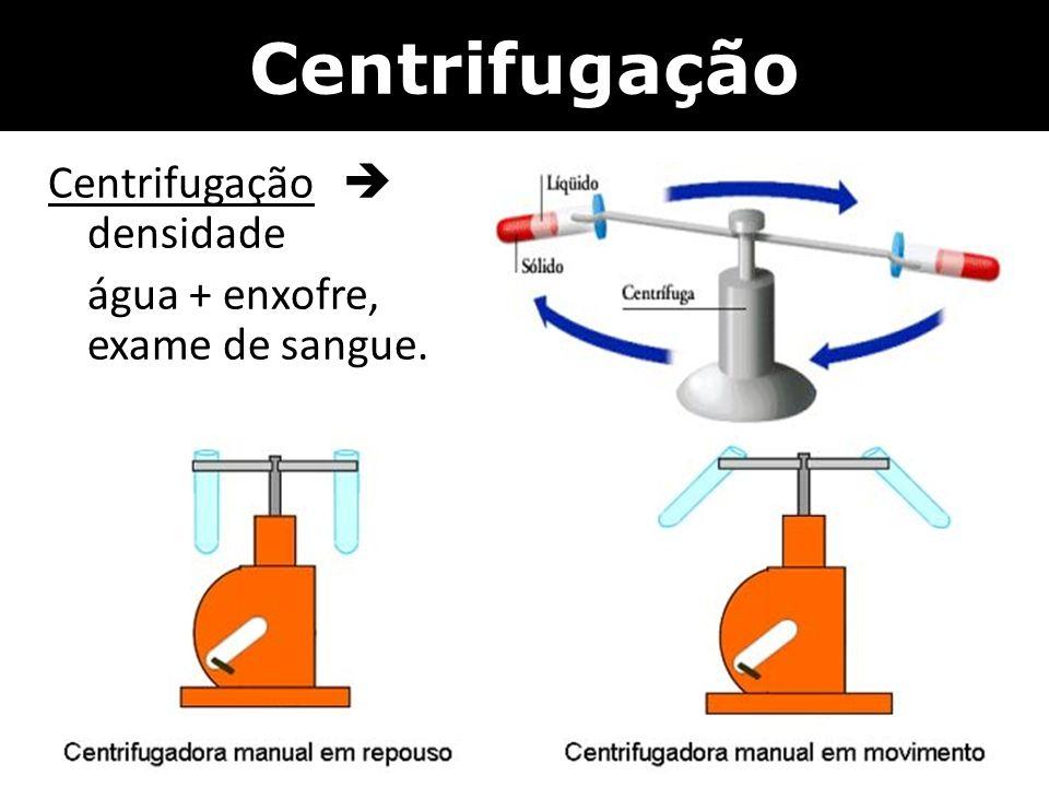 Centrifugação Centrifugação  densidade