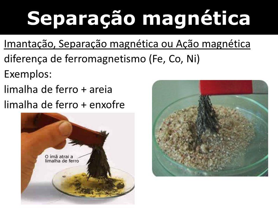 Separação magnética Imantação, Separação magnética ou Ação magnética