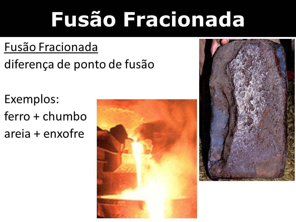 Fusão Fracionada Fusão Fracionada diferença de ponto de fusão