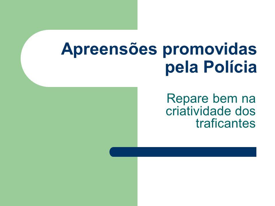 Apreensões promovidas pela Polícia