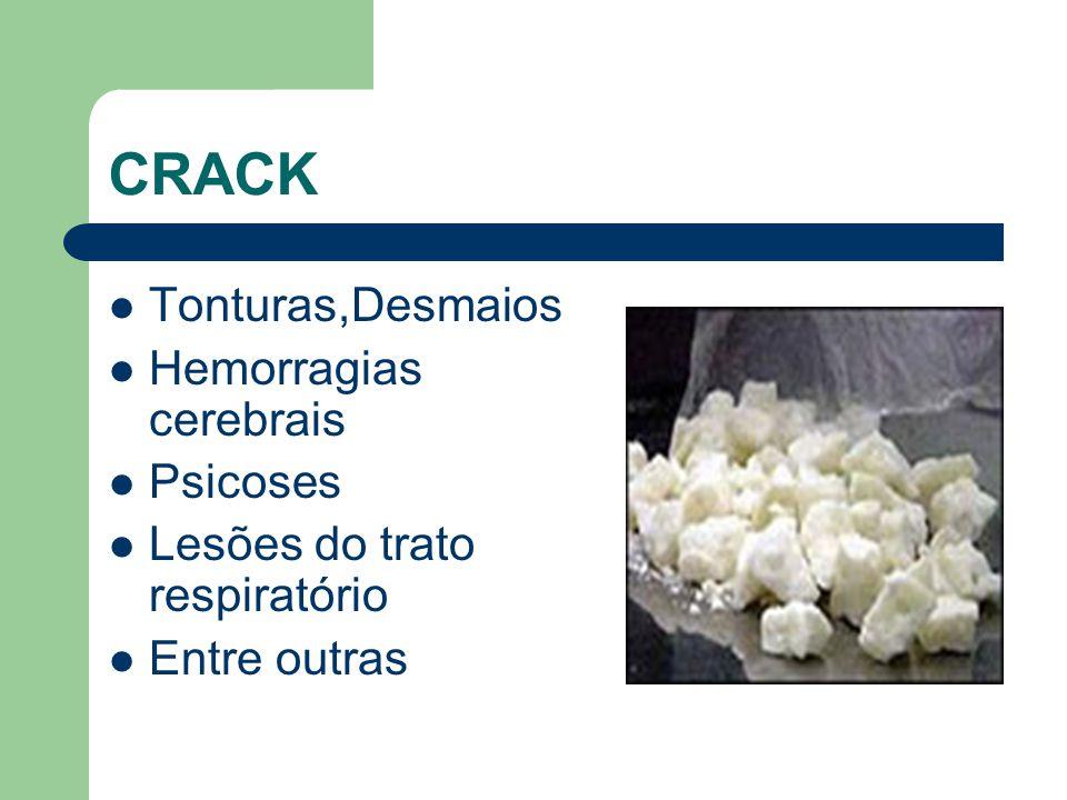 CRACK Tonturas,Desmaios Hemorragias cerebrais Psicoses