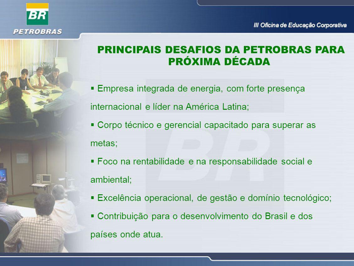 PRINCIPAIS DESAFIOS DA PETROBRAS PARA PRÓXIMA DÉCADA