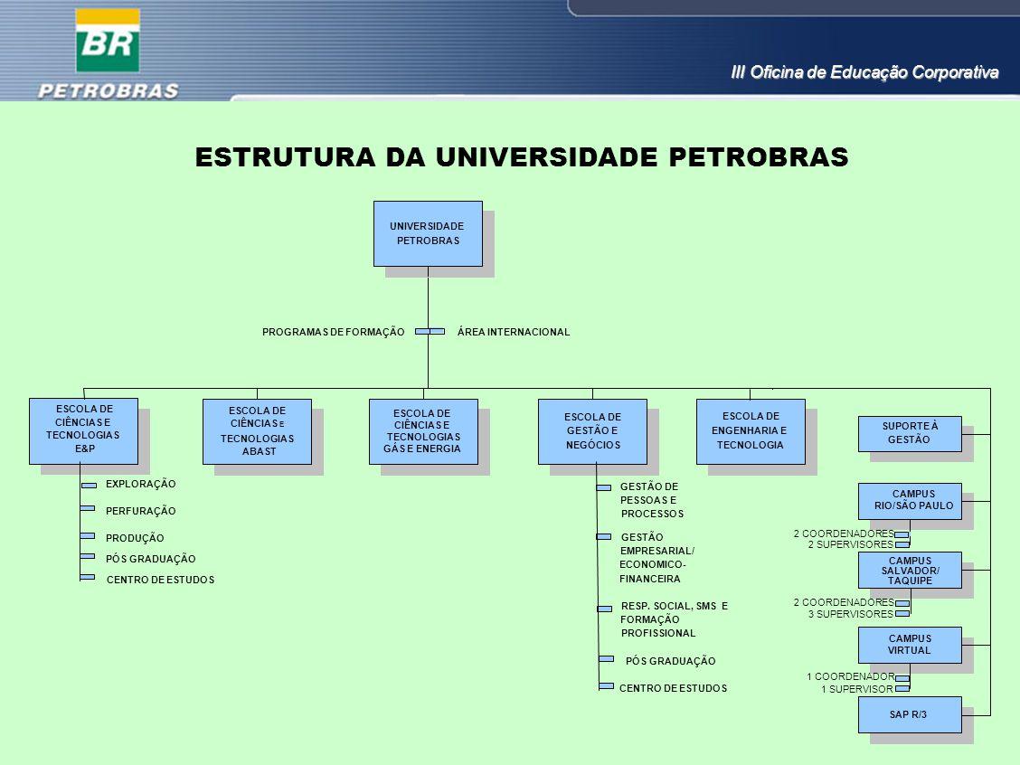 ESTRUTURA DA UNIVERSIDADE PETROBRAS