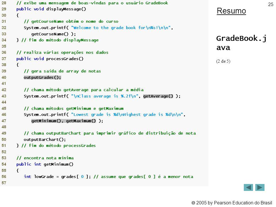 Resumo GradeBook.j ava (2 de 5)
