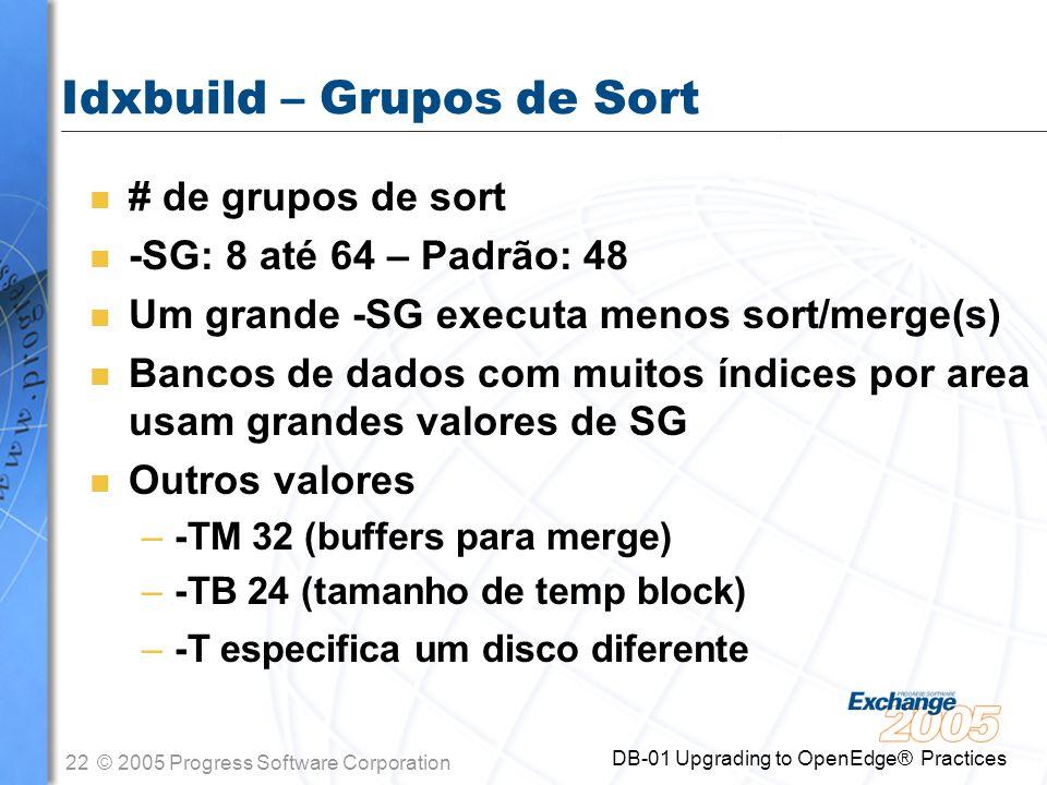 Idxbuild – Grupos de Sort