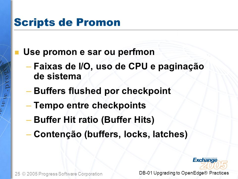 Scripts de Promon Use promon e sar ou perfmon