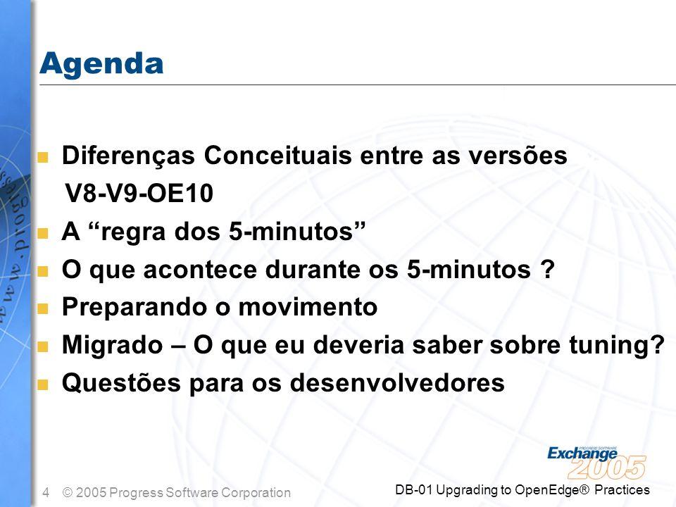 Agenda Diferenças Conceituais entre as versões V8-V9-OE10