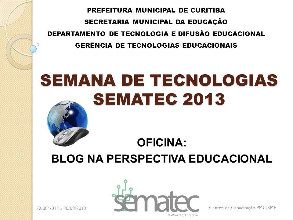 SEMANA DE TECNOLOGIAS SEMATEC 2013