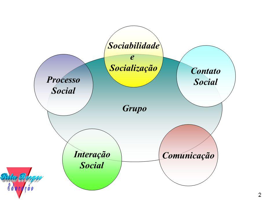 Sociabilidade e Socialização Contato Social Processo Social Grupo Comunicação Interação Social