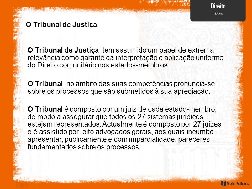 O Tribunal de Justiça