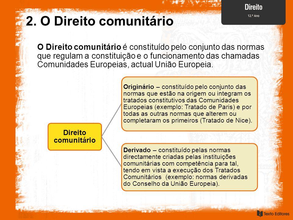 2. O Direito comunitário