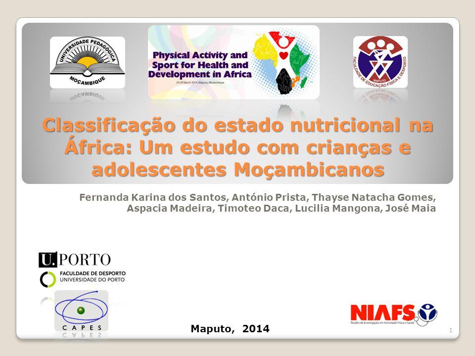 Classificação do estado nutricional na África: Um estudo com crianças e adolescentes Moçambicanos