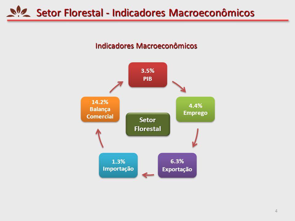Setor Florestal - Indicadores Macroeconômicos