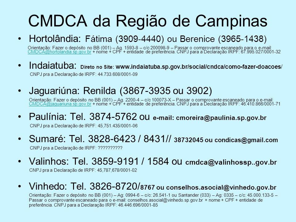 CMDCA da Região de Campinas