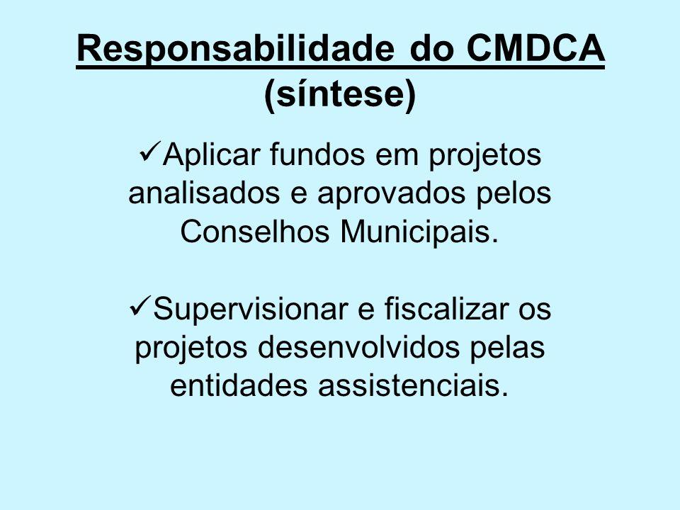 Responsabilidade do CMDCA (síntese)