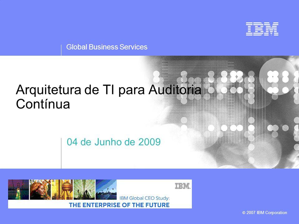 Arquitetura de TI para Auditoria Contínua