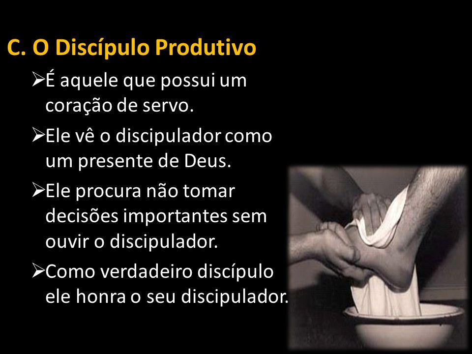 C. O Discípulo Produtivo