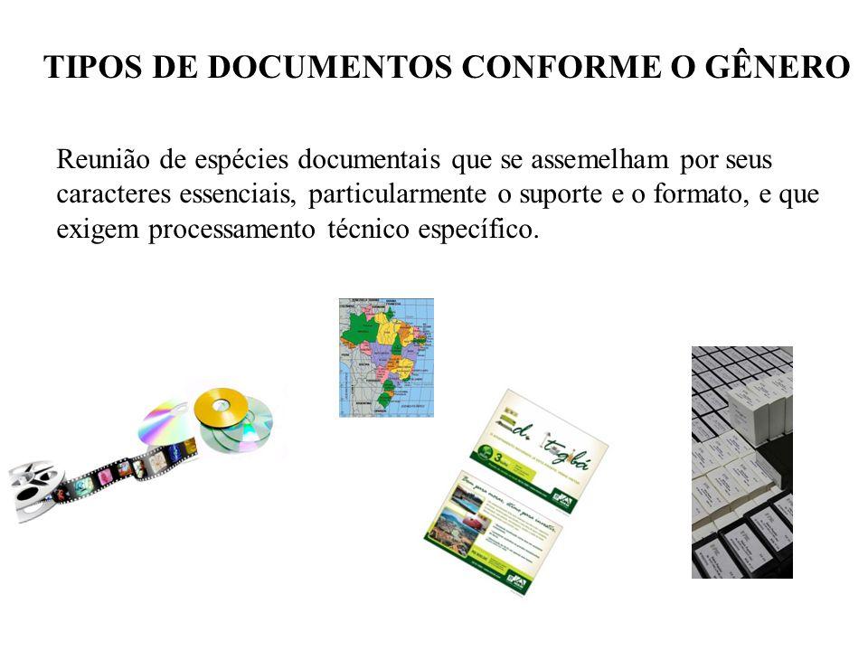 TIPOS DE DOCUMENTOS CONFORME O GÊNERO