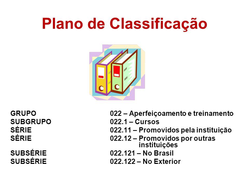 Plano de Classificação