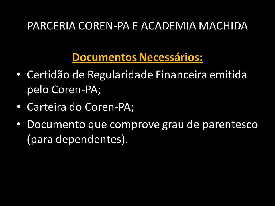 PARCERIA COREN-PA E ACADEMIA MACHIDA