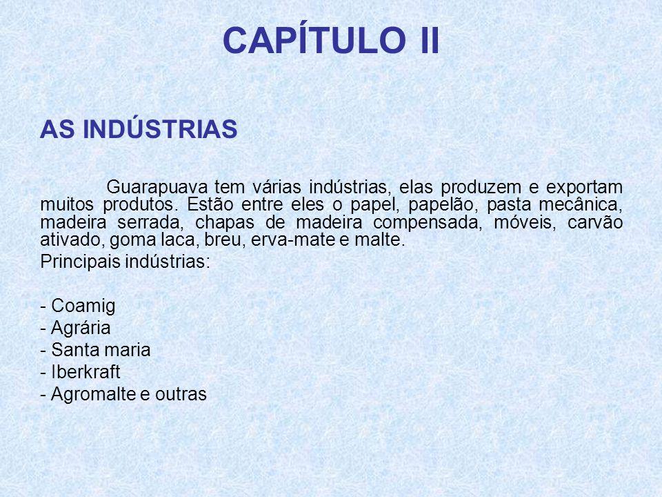 CAPÍTULO II AS INDÚSTRIAS
