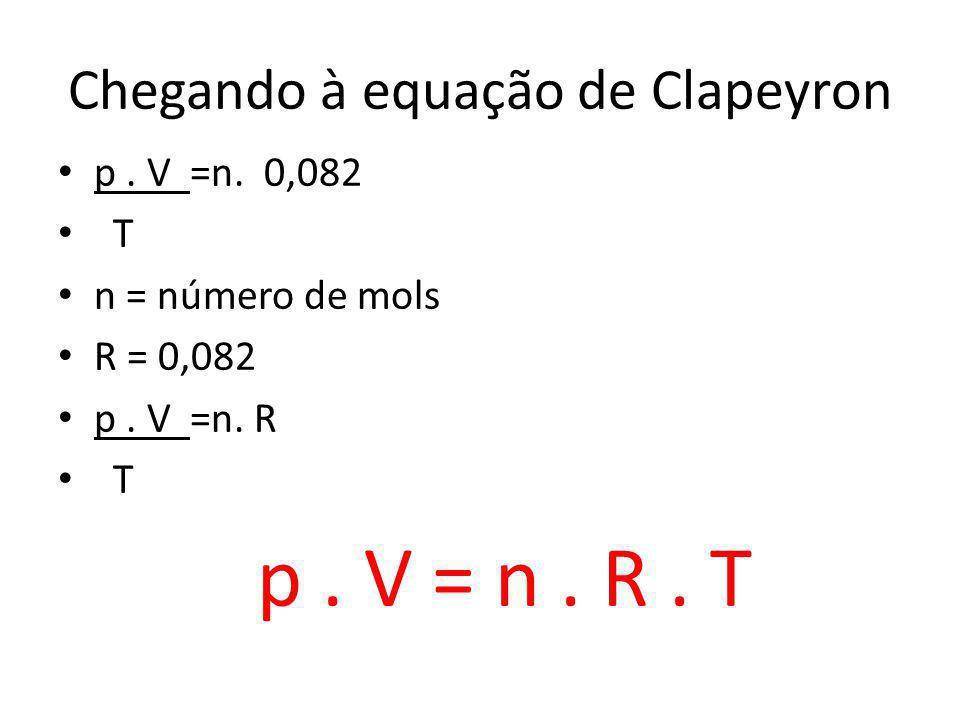 Chegando à equação de Clapeyron