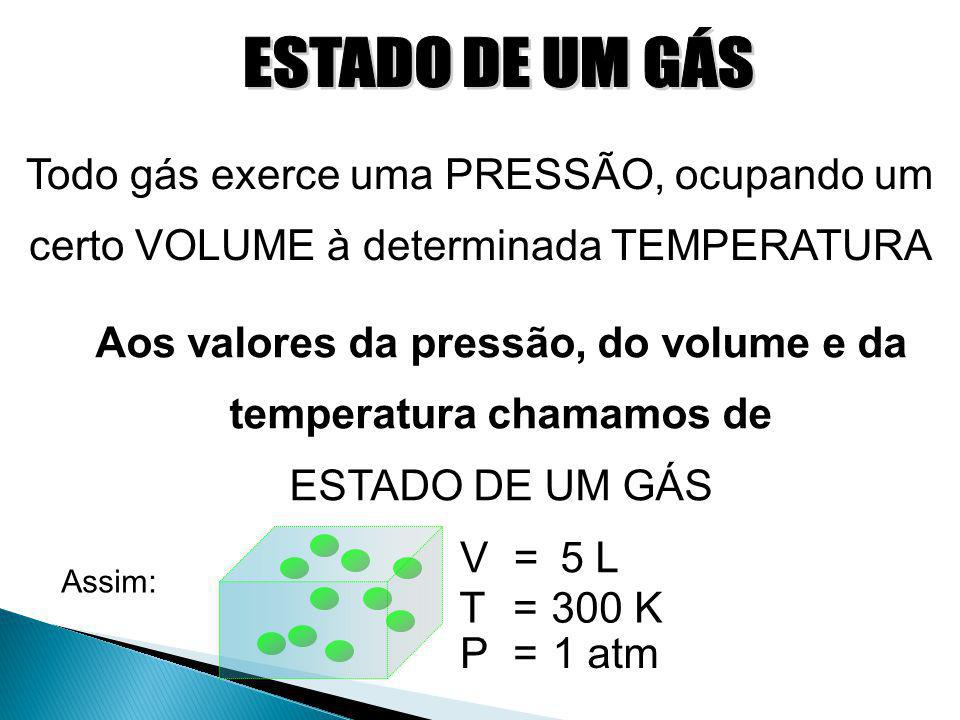 Aos valores da pressão, do volume e da temperatura chamamos de