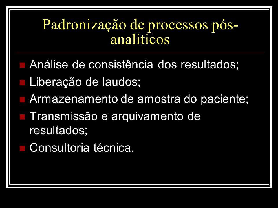 Padronização de processos pós-analíticos
