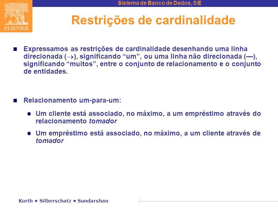 Restrições de cardinalidade