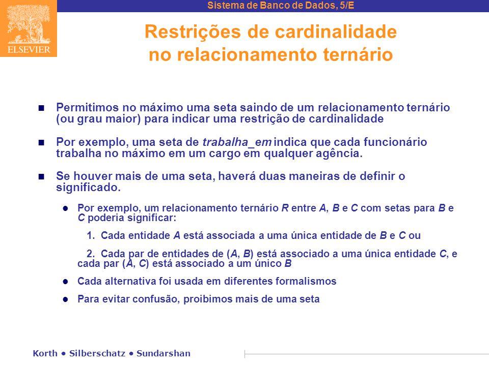 Restrições de cardinalidade no relacionamento ternário