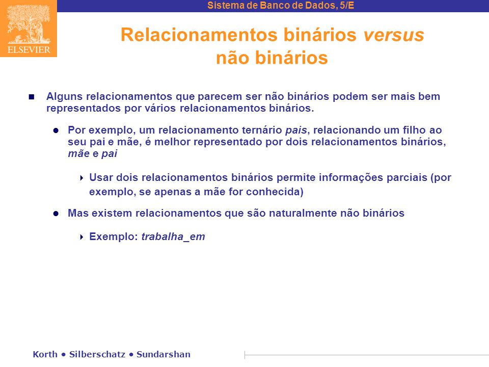 Relacionamentos binários versus não binários