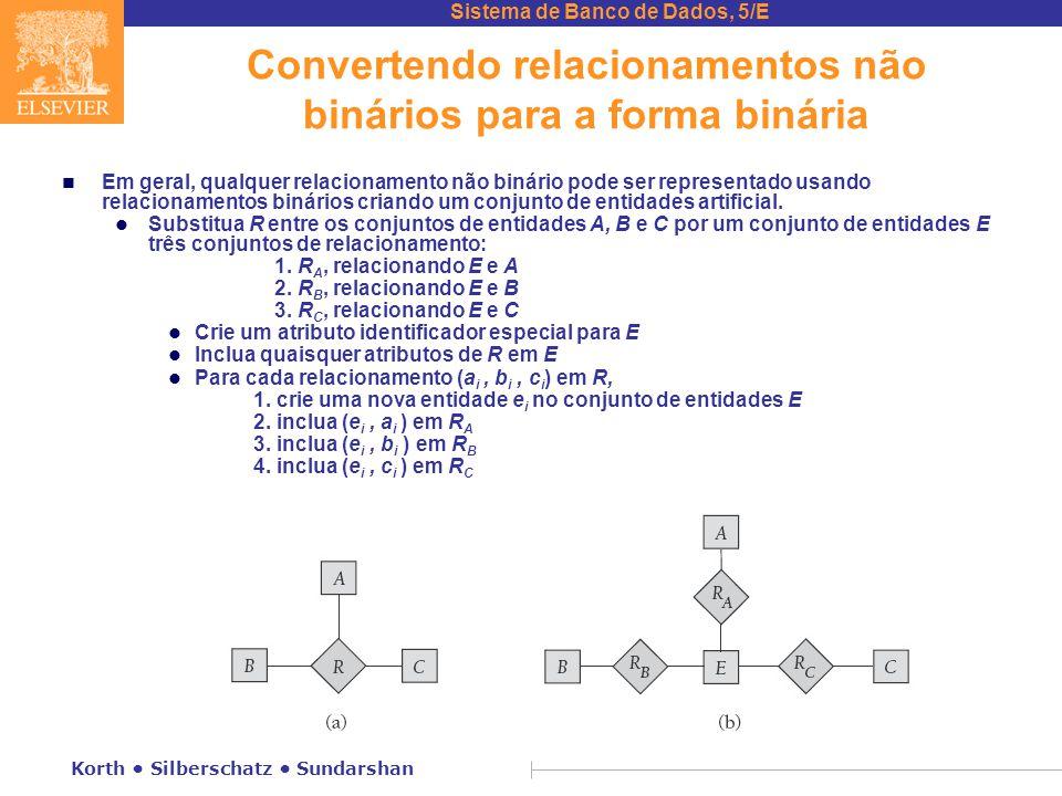 Convertendo relacionamentos não binários para a forma binária