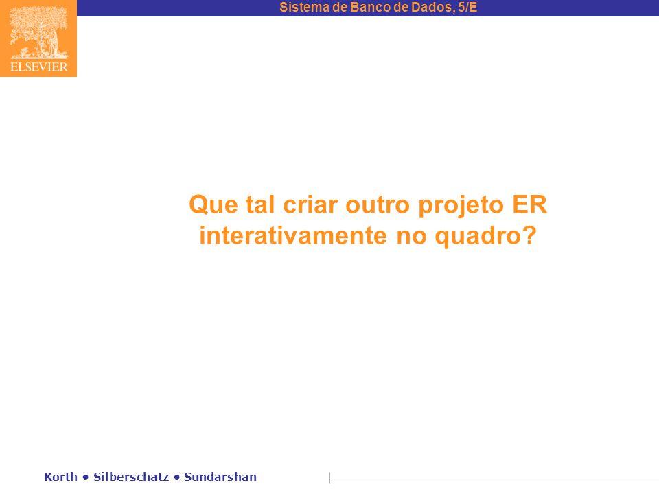 Que tal criar outro projeto ER interativamente no quadro
