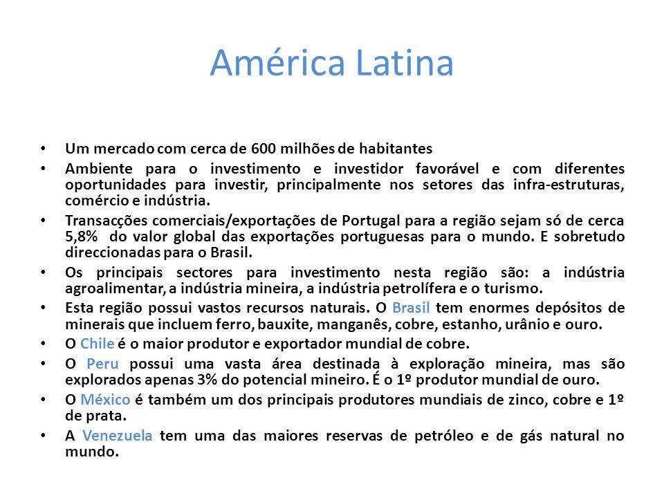 América Latina Um mercado com cerca de 600 milhões de habitantes