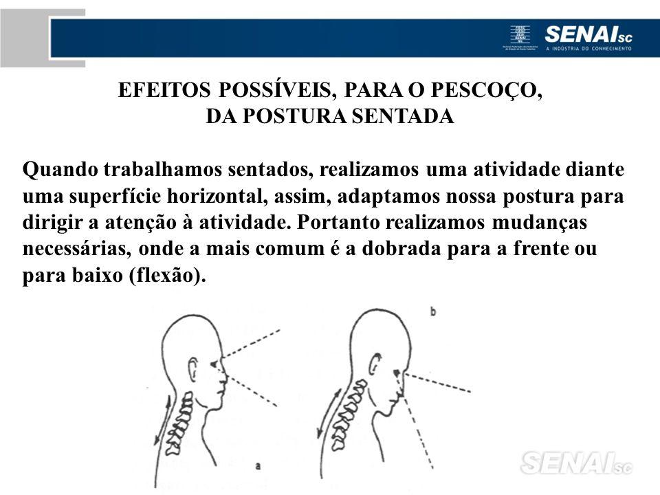 EFEITOS POSSÍVEIS, PARA O PESCOÇO,