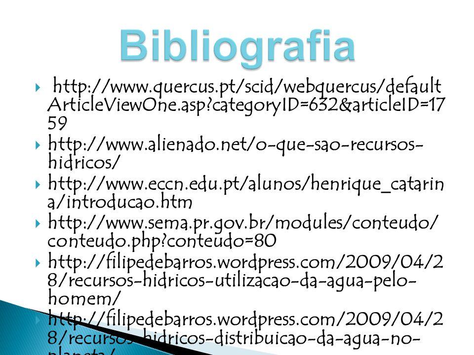 Bibliografia http://www.quercus.pt/scid/webquercus/defaultArticleViewOne.asp categoryID=632&articleID=1759.