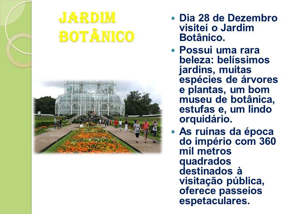 Jardim Botânico Dia 28 de Dezembro visitei o Jardim Botânico.
