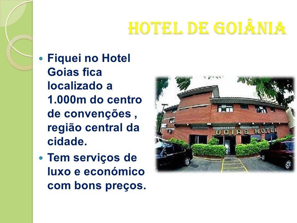 Fiquei no Hotel Goias fica localizado a 1