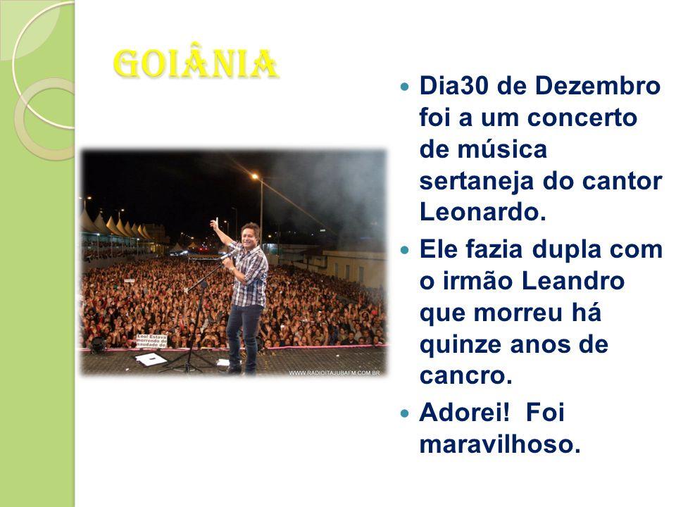 Dia30 de Dezembro foi a um concerto de música sertaneja do cantor Leonardo.