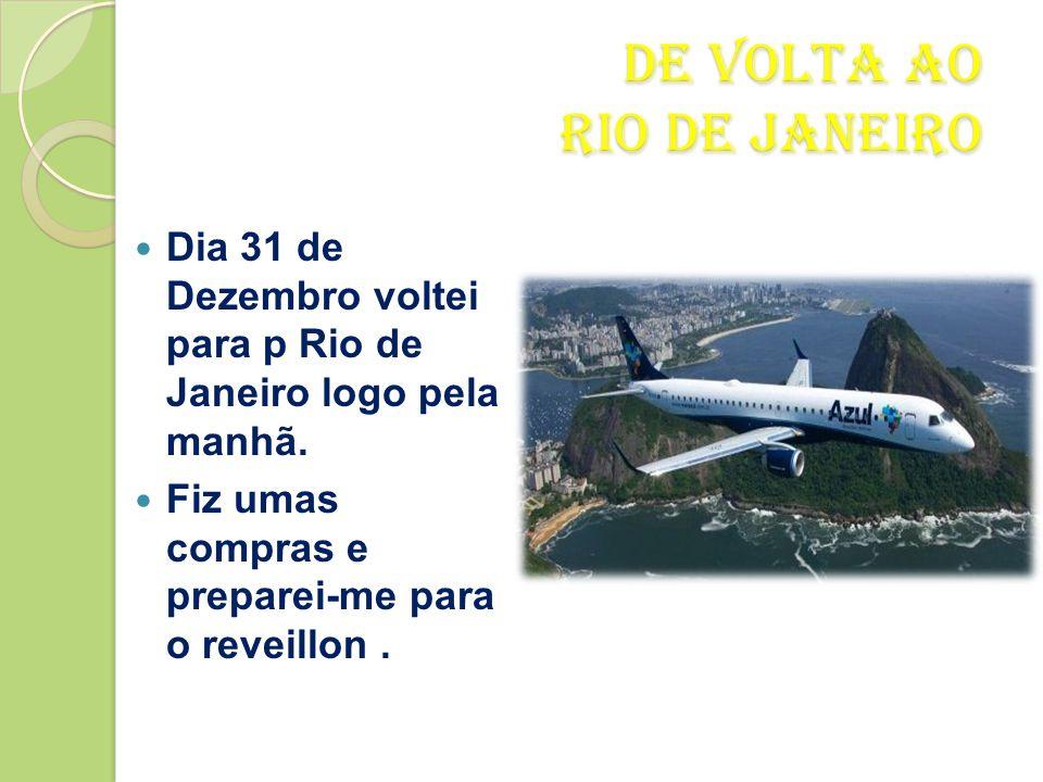 De Volta ao Rio de Janeiro