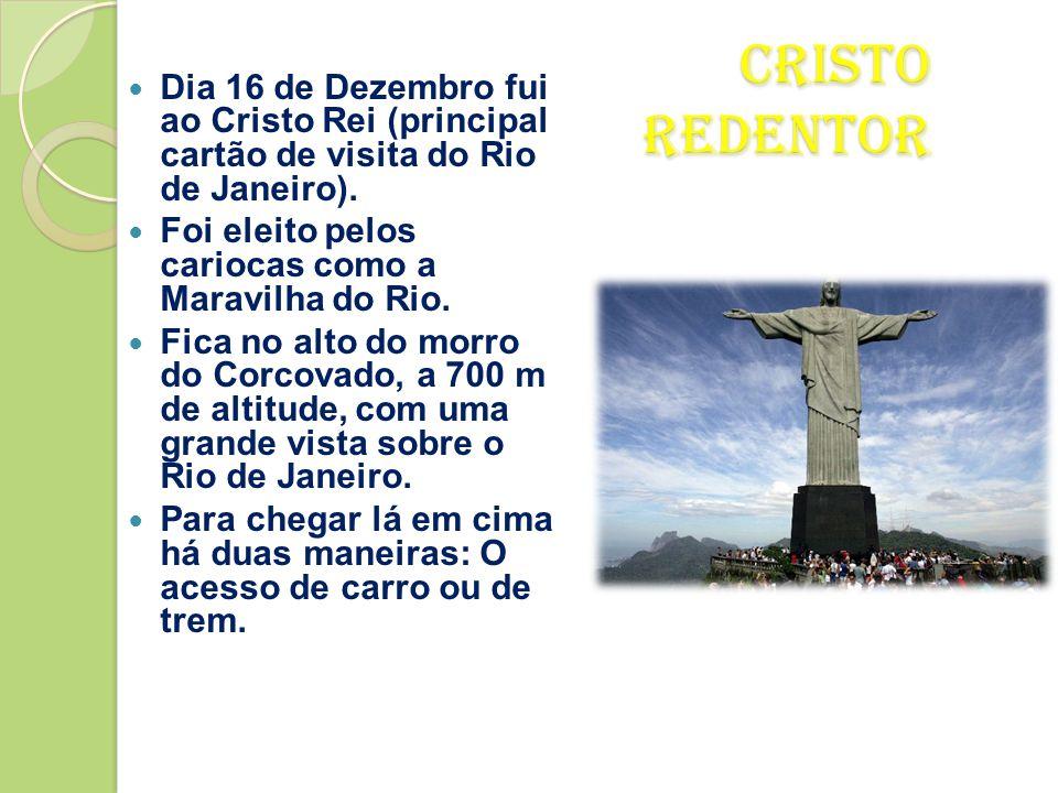 Dia 16 de Dezembro fui ao Cristo Rei (principal cartão de visita do Rio de Janeiro).