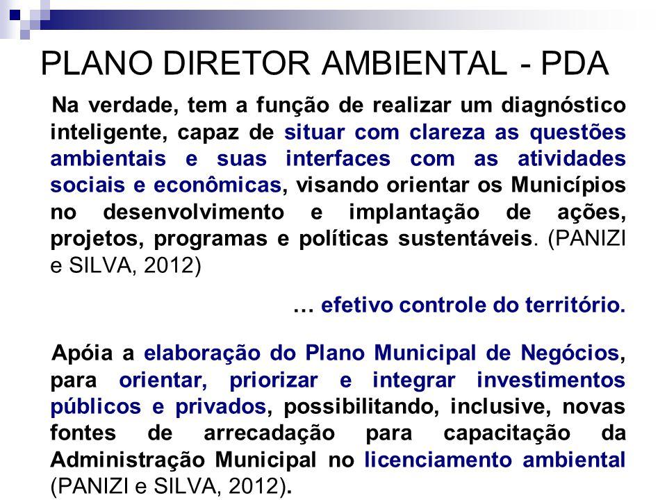 PLANO DIRETOR AMBIENTAL - PDA