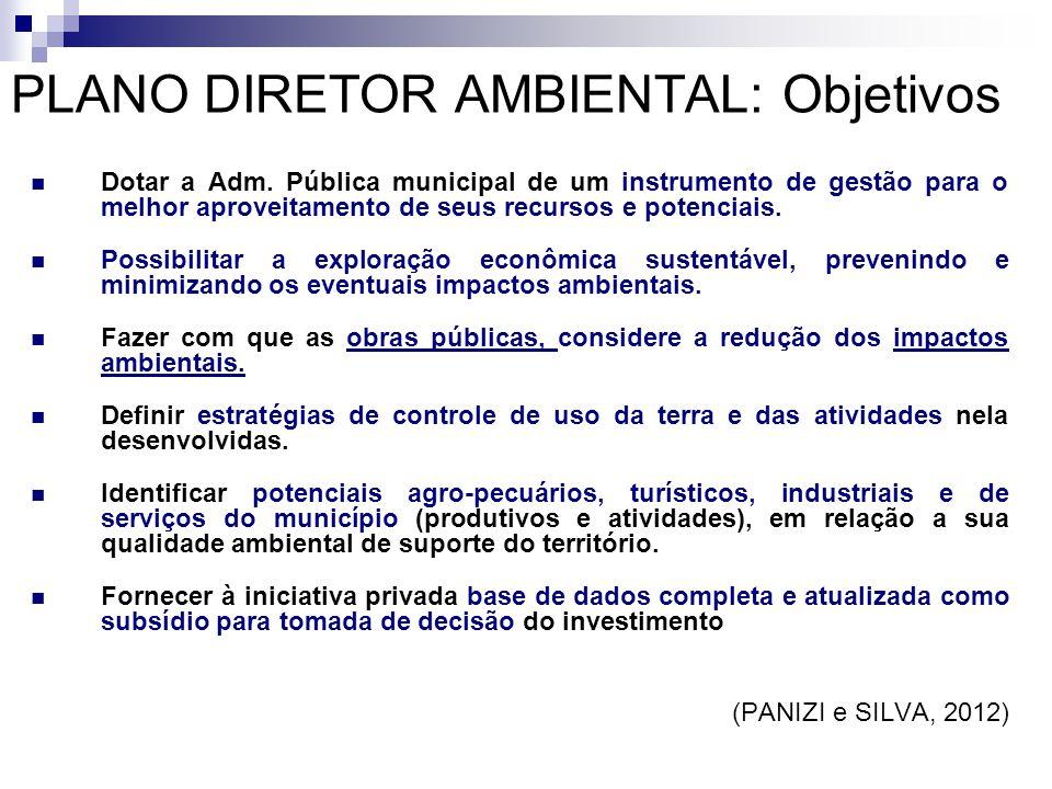PLANO DIRETOR AMBIENTAL: Objetivos