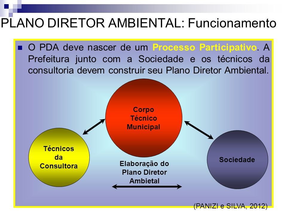 PLANO DIRETOR AMBIENTAL: Funcionamento