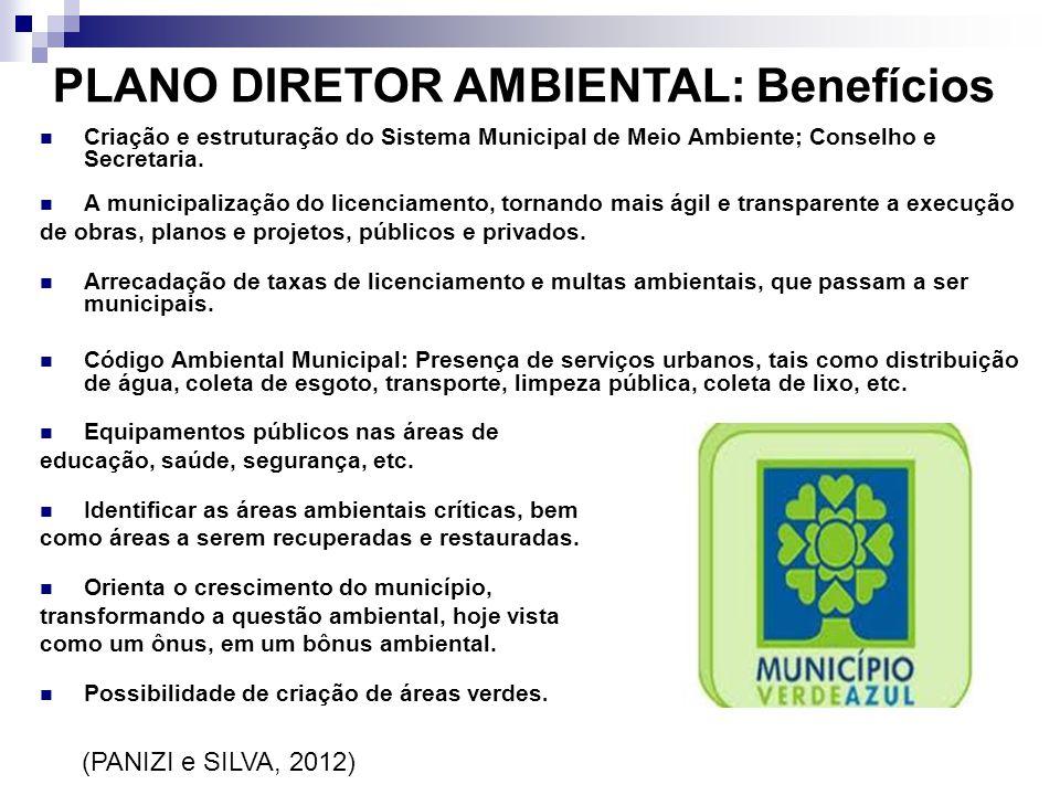 PLANO DIRETOR AMBIENTAL: Benefícios