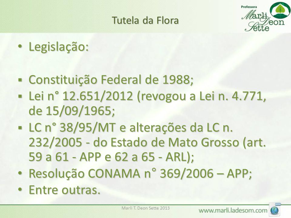 Constituição Federal de 1988;