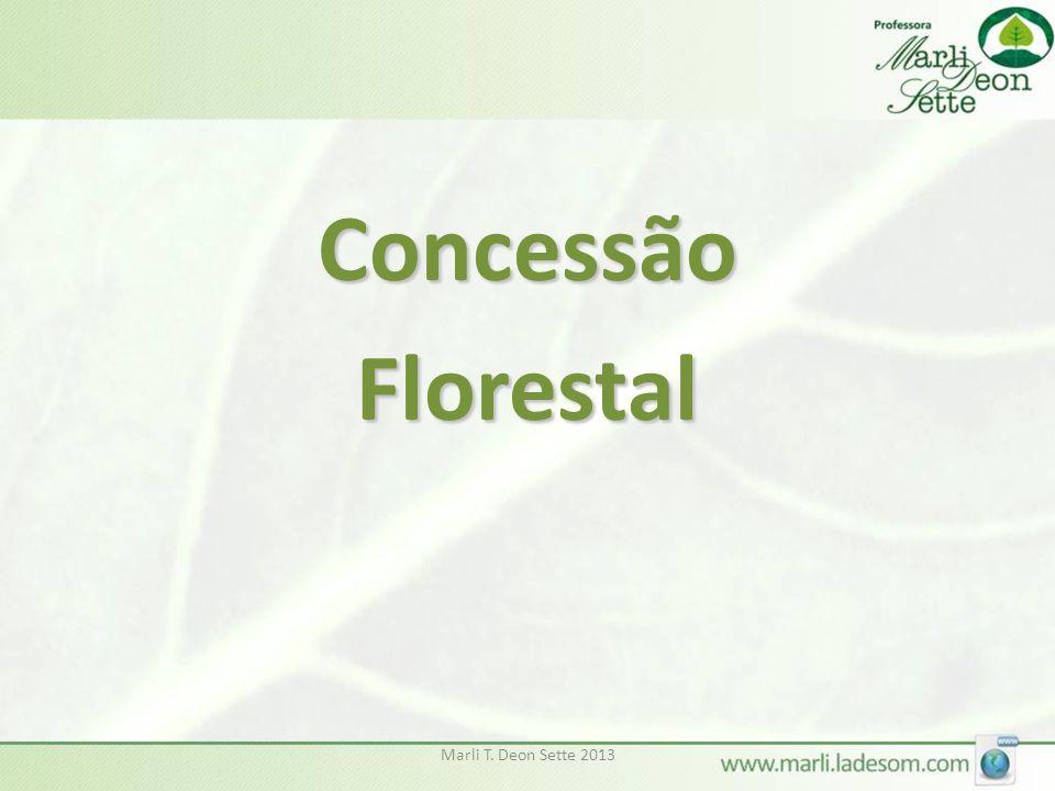 Concessão Florestal Marli T. Deon Sette 2013