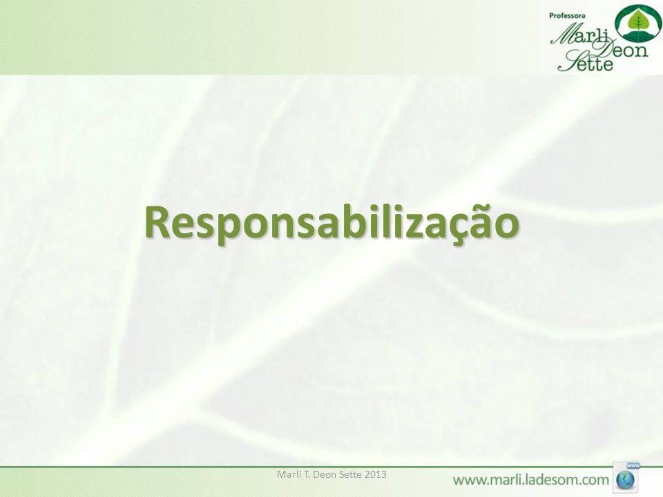 Responsabilização Marli T. Deon Sette 2013