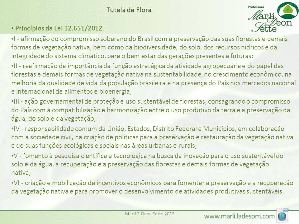 Tutela da Flora Princípios da Lei 12.651/2012.